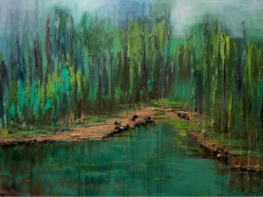 """Painting titled """"Forest monologue"""" by Valentina Reina, Original Art, Oil"""
