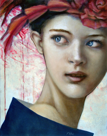 """Painting titled """"I will never see yo…"""" by Valeria Feliú, Original Art, Oil"""