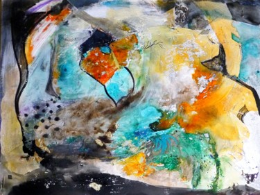 Painting, acrylic, abstract, artwork by Cyane