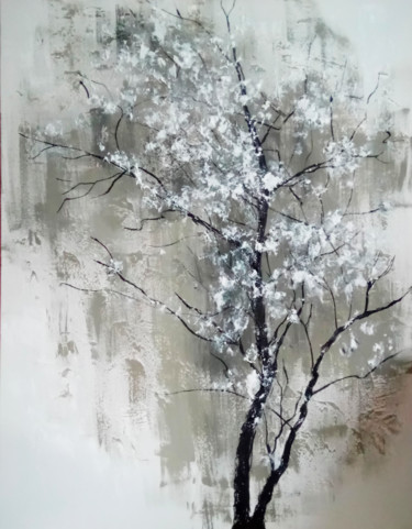 Tree Painting, acrylic, figurative, artwork by Valeriia Radziievska