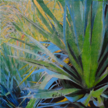 """Collages titled """"Agave"""" by Valérie Auriel, Original Art, Collages"""