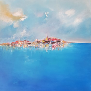 """Painting titled """"ILE  ROUSSE"""" by Valerie Dragacci, Original Art, Oil"""