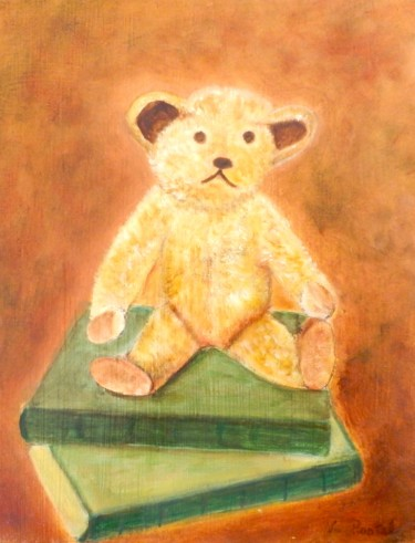 """Painting titled """"Nounours"""" by Valérie Pastel, Original Art, Oil"""