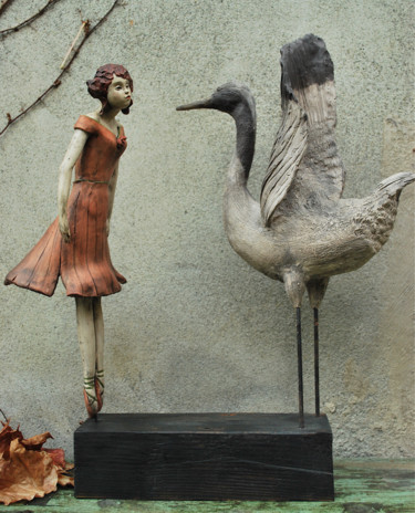 Dance Sculpture, clay, figurative, artwork by Valérie Zahonero