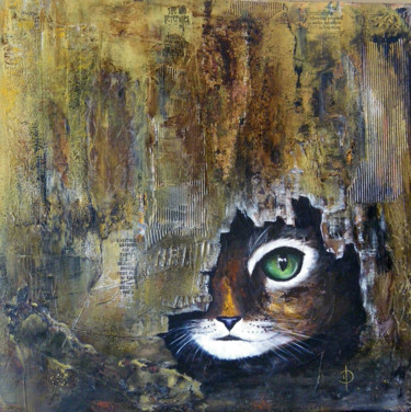 """Painting titled """"Le guet"""" by Valérie Domenjoz, Original Art, Other"""