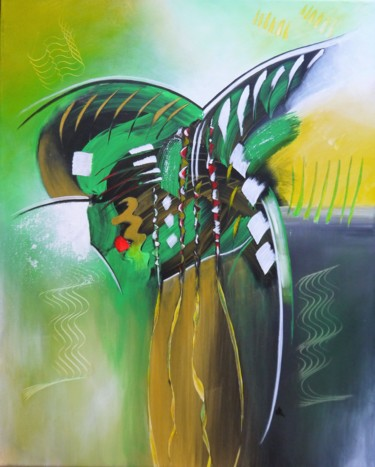 """Painting titled """"Barbatos"""" by Valérie Lamarre, Original Art, Acrylic Mounted on Stretcher frame"""
