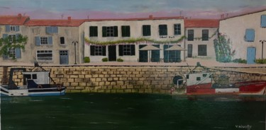 """Painting titled """"Port st Martin(île…"""" by Valérie Nivolle, Original Art, Acrylic Mounted on Stretcher frame"""