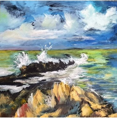 Painting, acrylic, impressionism, artwork by Pascale Vallée