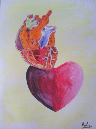Love Painting, acrylic, conceptual art, artwork by Valérie Schuler