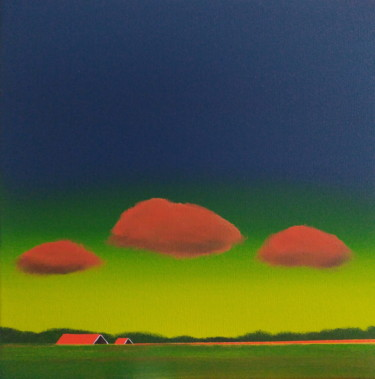 """Painting titled """"Yesterday evening (…"""" by Nelly Van Nieuwenhuijzen, Original Art, Acrylic Mounted on Stretcher frame"""