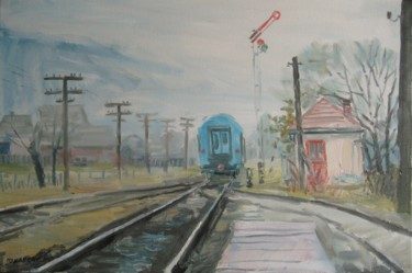 """Painting titled """"outskirts"""" by Vasyl, Original Art,"""