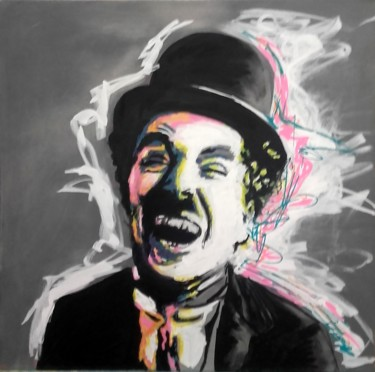 """Painting titled """"Charlot"""" by Véronique Baleste, Original Art, Acrylic"""