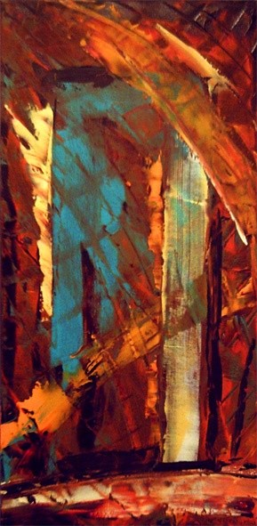 """Painting titled """"threshold"""" by Vcasey, Original Art,"""