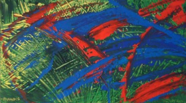 """Painting titled """"Paradis"""" by Vcasey, Original Art,"""