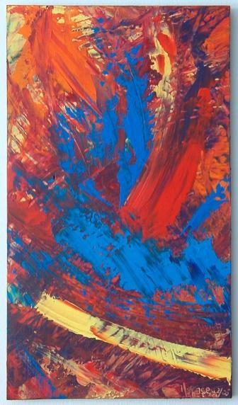 """Painting titled """"spark"""" by Vcasey, Original Art,"""