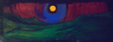 """Painting titled """"moonscape"""" by Vcasey, Original Art,"""