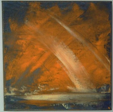 """Painting titled """"orangesky"""" by Vcasey, Original Art,"""