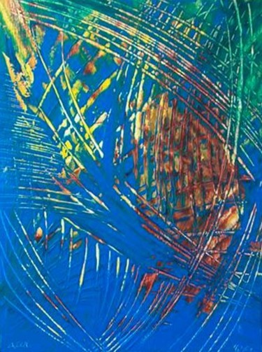 """Painting titled """"AZUL"""" by Vcasey, Original Art,"""