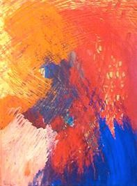 """Painting titled """"RAINBOW WAVE"""" by Vcasey, Original Art,"""