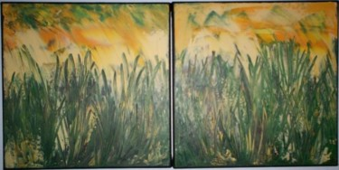 """Painting titled """"primavera (duo)"""" by Vcasey, Original Art,"""