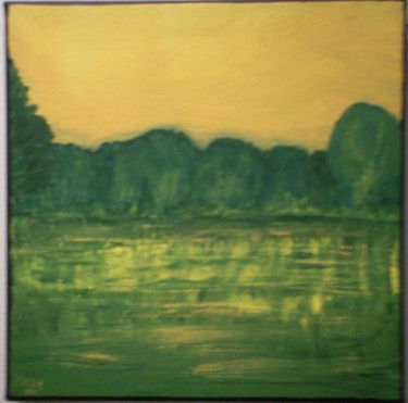 """Painting titled """"golden pond"""" by Vcasey, Original Art,"""