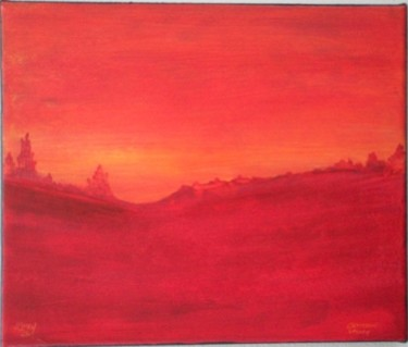 """Painting titled """"crimson valley"""" by Vcasey, Original Art,"""