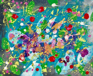 """Painting titled """"Andiamo. Colorful,…"""" by Veera Zukova, Original Art, Acrylic Mounted on Stretcher frame"""
