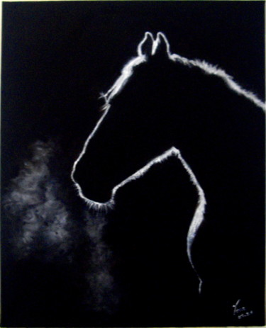 Horse Painting, oil, impressionism, artwork by Vera