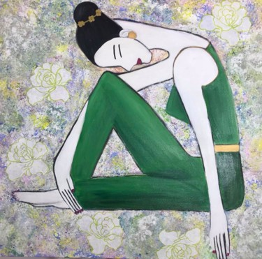 """Painting titled """"Day dreaming"""" by Marie Expert, Original Art, Acrylic"""