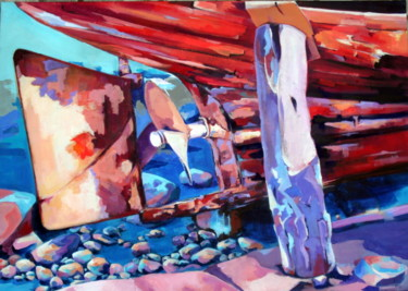 """Painting titled """"carenage"""" by Veronique Gaudin, Original Art, Oil"""