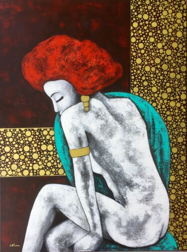 """Painting titled """"Roxane"""" by Salette Viana, Original Art, Acrylic Mounted on Stretcher frame"""
