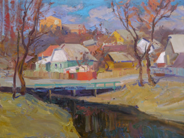 """Painting titled """"Near the Strizhen R…"""" by Victor Onyshchenko, Original Art, Oil"""