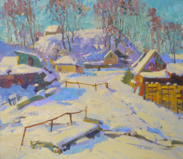 """Painting titled """"Sunny February. Sed…"""" by Victor Onyshchenko, Original Art, Oil"""