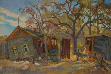 """Painting titled """"Old building"""" by Victor Onyshchenko, Original Art, Oil"""