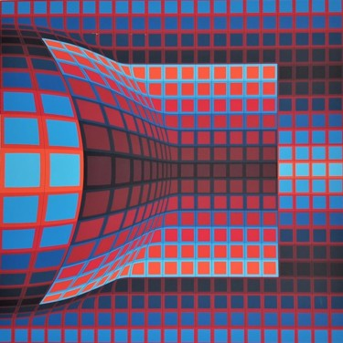 28x28 in ©1975 by Victor Vasarely
