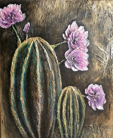 """Painting titled """"Cactus."""" by Victoria Beko, Original Art, Acrylic"""