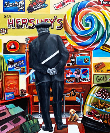 """Painting titled """"the candy man"""" by Victoria Semenets, Original Art, Oil"""