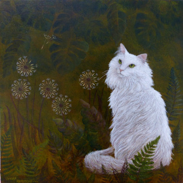 """Painting titled """"Merlin's Garden"""" by Victoria Armstrong, Original Art, Acrylic"""