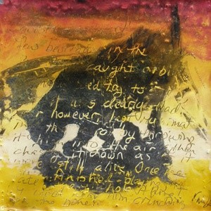 """Painting titled """"Bear-Bear I"""" by Victoria Wallace, Original Art, Encaustic"""