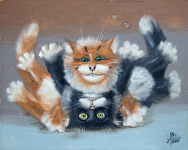 """Painting titled """"Tomfoolery"""" by Victor Molev, Original Art, Oil"""