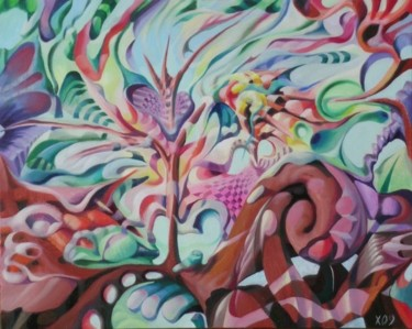 Painting, oil, abstract, artwork by Victor X