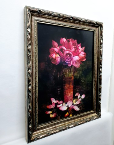 """Photography titled """"The Pink Lotus III"""" by Viet Ha Tran, Original Art, Manipulated Photography"""