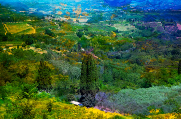 """Photography titled """"View of Tuscany"""" by Viet Ha Tran, Original Art, Manipulated Photography"""