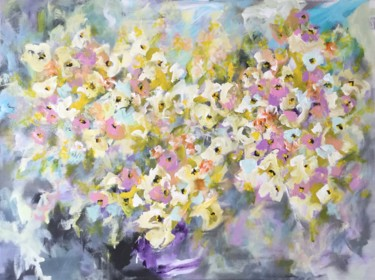 """Painting titled """"Bouquet"""" by Viktoria Ganhao, Original Art, Acrylic Mounted on Stretcher frame"""