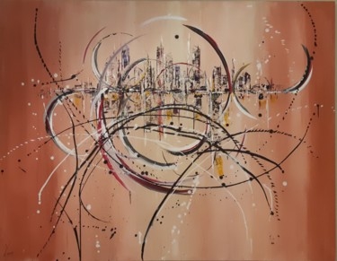 """Painting titled """"abstract-city 12-18"""" by Vincent Faus, Original Art, Acrylic"""