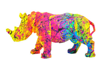 Animal Painting, resin, pop art, artwork by Vincent Bardou
