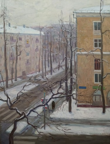 City Painting, oil, figurative, artwork by Maria Vinichenko