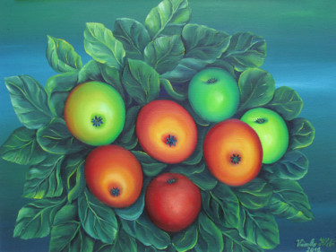 """Painting titled """"Apples"""" by Vinko Hlebs, Original Art, Oil"""