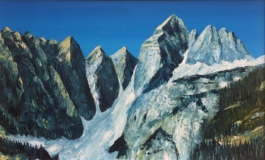 """Painting titled """"Mountains II"""" by Vinko Hlebs, Original Art, Oil"""
