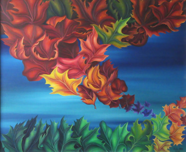 """Painting titled """"Fall"""" by Vinko Hlebs, Original Art, Oil"""